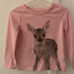 Cat and Jack Pink Long Sleeved Shirt 3T